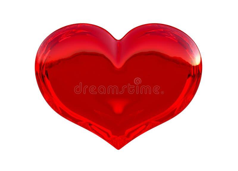 La figura rossa Semitransparent del cuore ha isolato illustrazione vettoriale