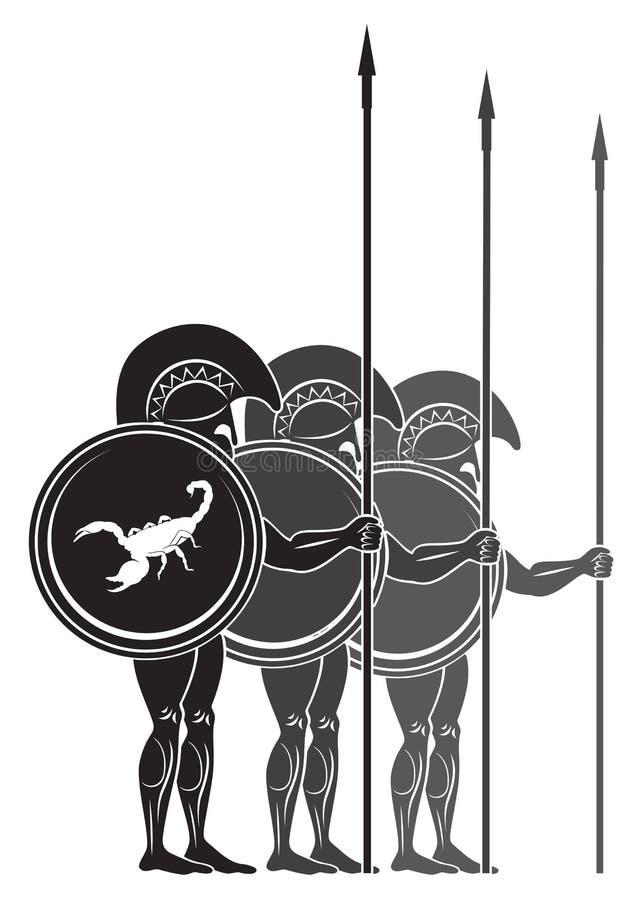 Guerriers illustration de vecteur