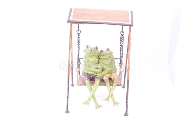 La figurine exclusive de grenouille est fabriquée à la main images libres de droits