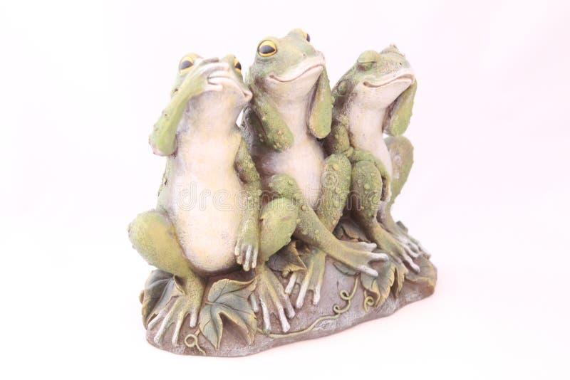 La figurine exclusive de grenouille est fabriquée à la main image stock