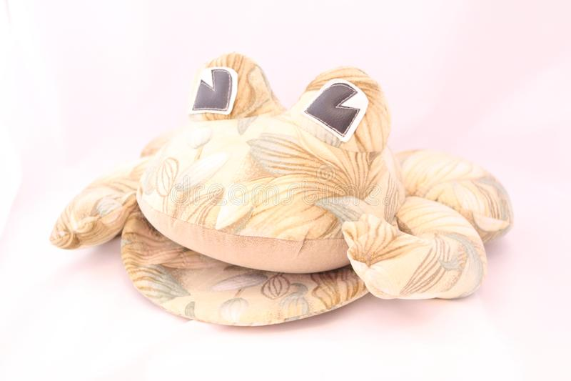 La figurine exclusive de grenouille est fabriquée à la main photographie stock libre de droits