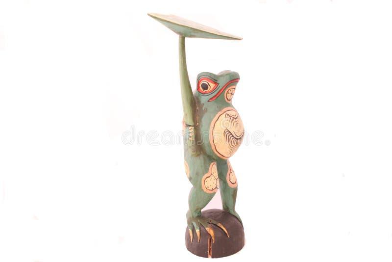 La figurine exclusive de grenouille est fabriquée à la main photo libre de droits