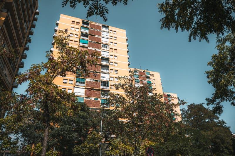 La fila de casas residenciales, España fotografía de archivo libre de regalías