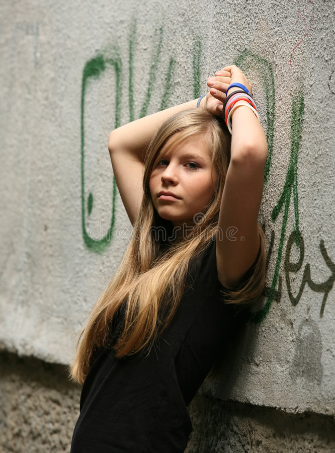 La fille - adolescente images stock