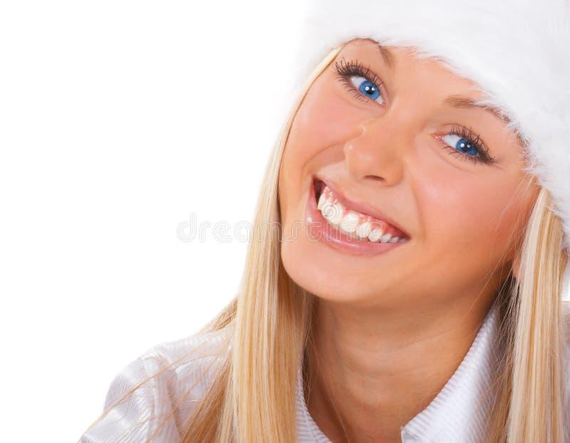 La fille avec des œil bleu images libres de droits