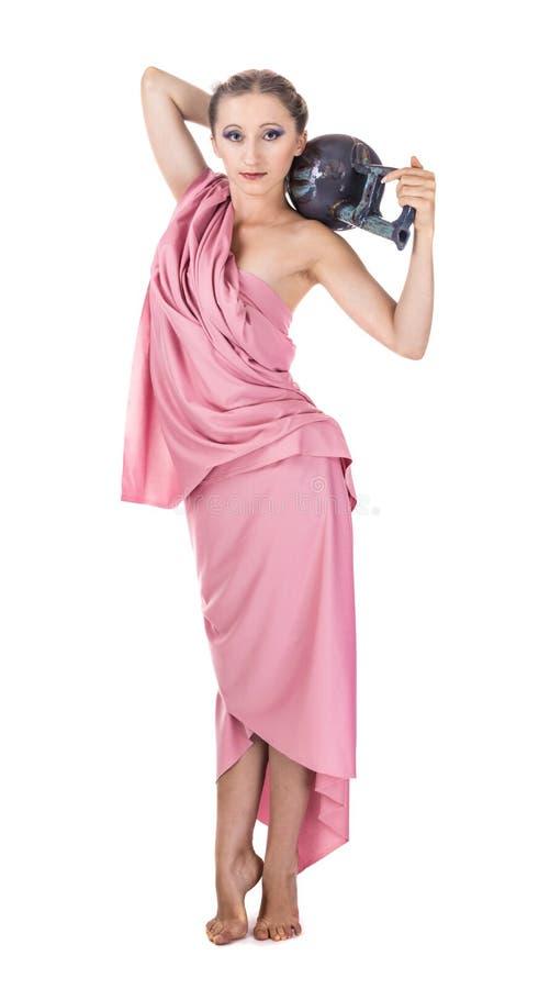 La fille avec l'amphora image stock