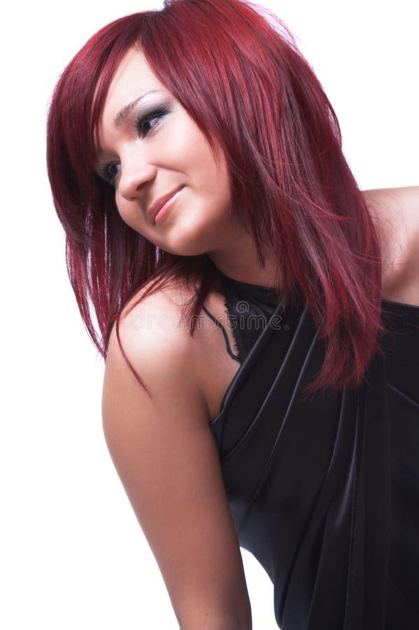 La fille avec le cheveu rouge image libre de droits
