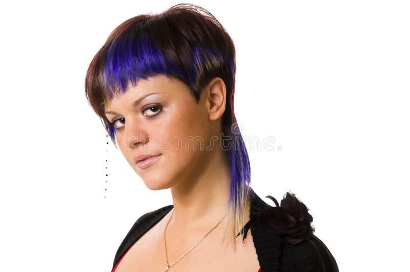 La fille avec un cheveu créateur image stock