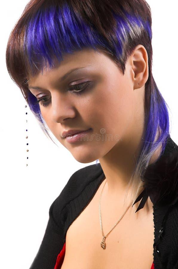 La fille avec un cheveu créateur photos stock