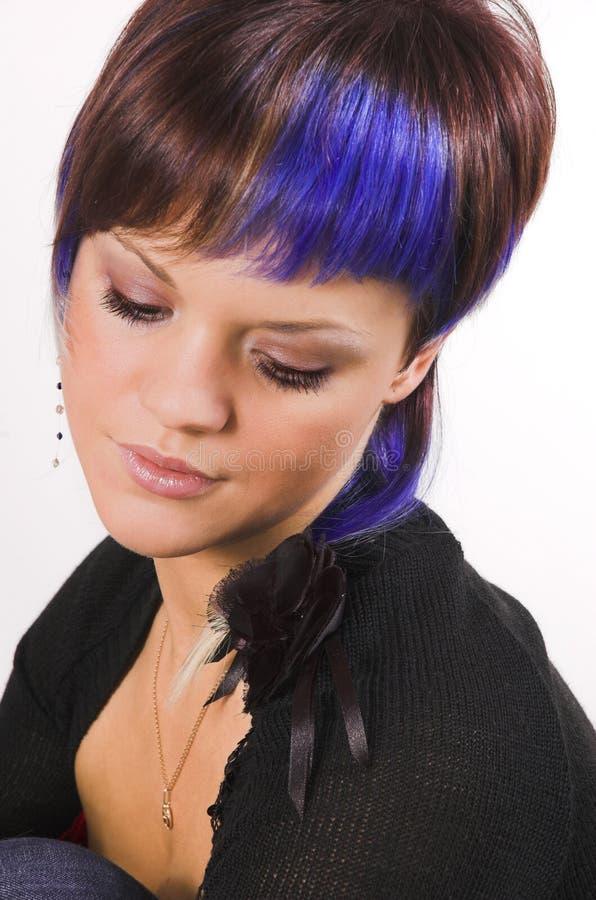 La fille avec un cheveu créateur photographie stock libre de droits