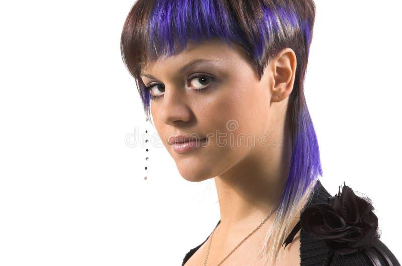 La fille avec un cheveu créateur photographie stock