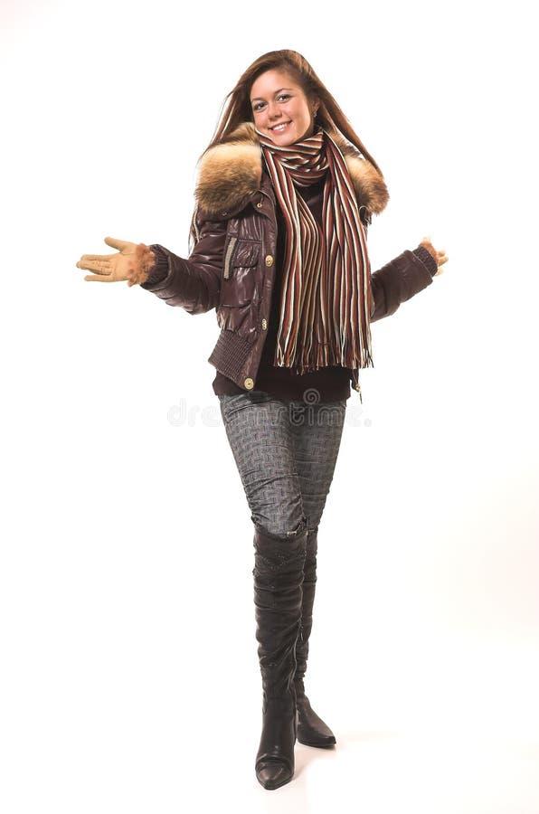 La fille dans des vêtements de l'hiver photos libres de droits