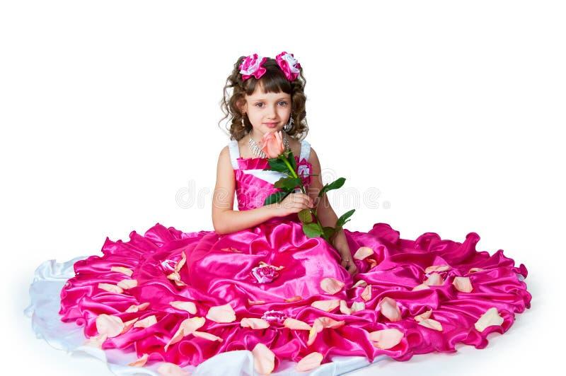 La fille dans une belle robe photos stock