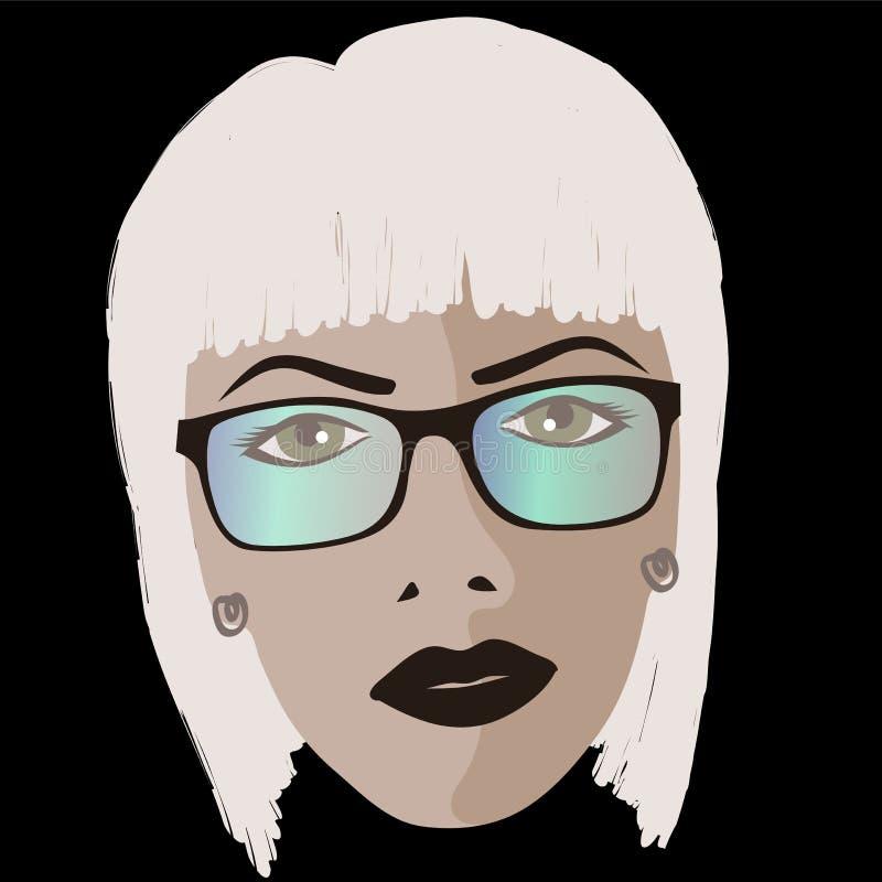La fille de charme utilise des lunettes de soleil illustration libre de droits