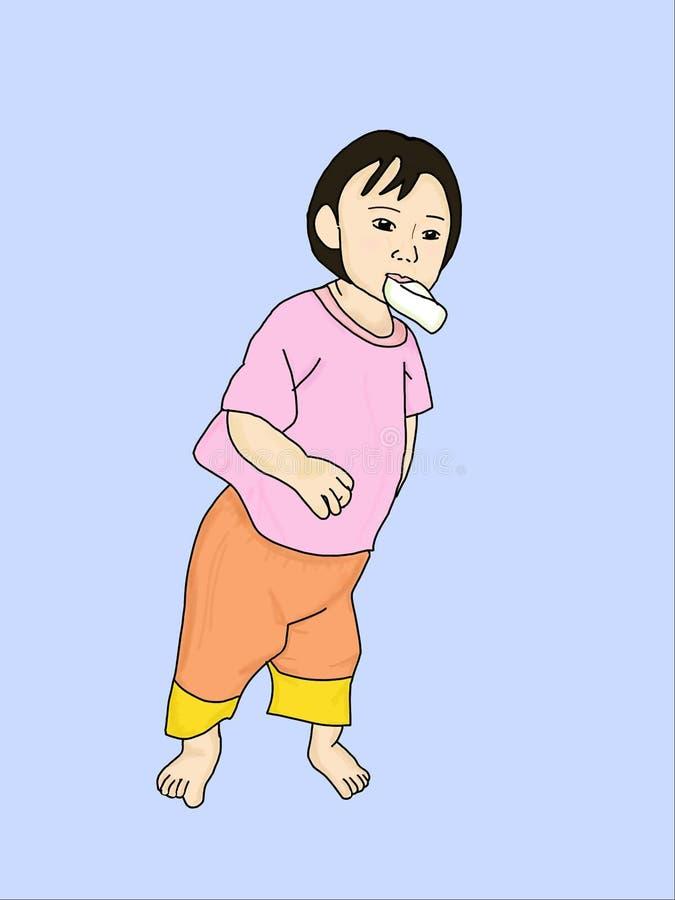 La fille mangent la goyave photo libre de droits