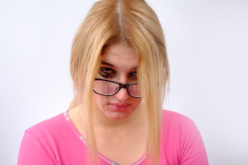La fille pleurait photos libres de droits