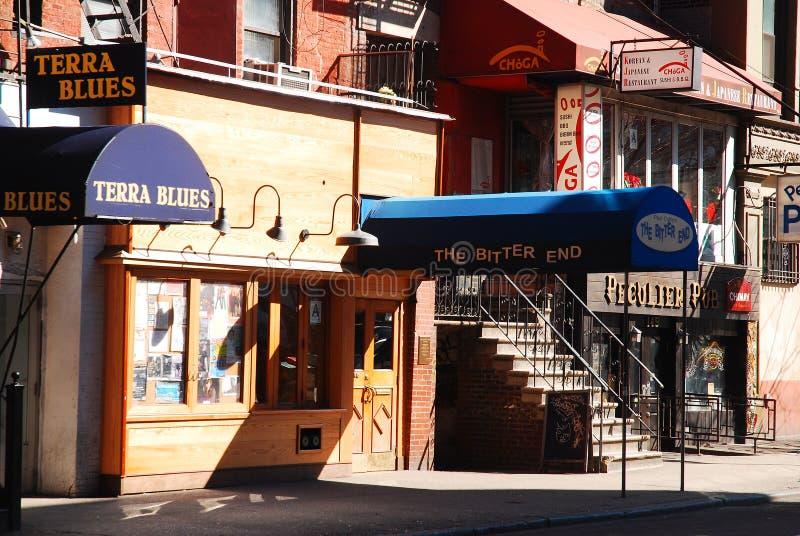 La fin amère, Greenwich Village photographie stock libre de droits