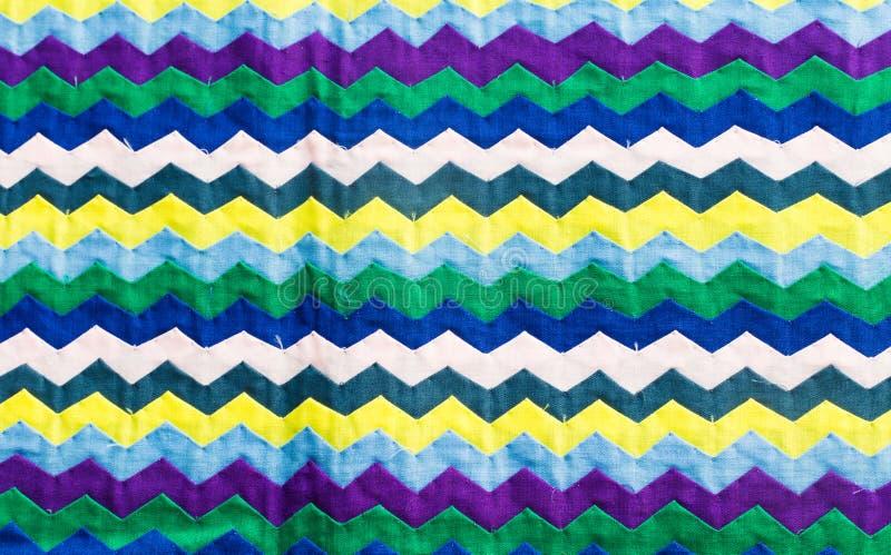 La fin colorée de surface de couverture de style de la Thaïlande vers le haut du tissu de vintage est faite en tissu de coton tis photographie stock