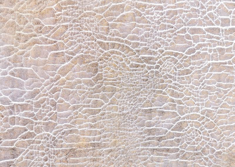 La fin a model? la fissuration du vieux fond de texture de tissu, r?sum? photographie stock libre de droits