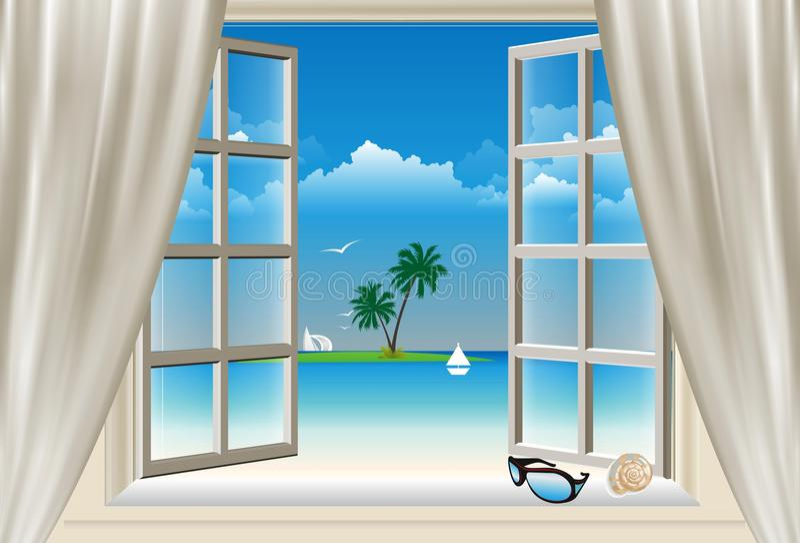 La finestra, illustrazione di stock