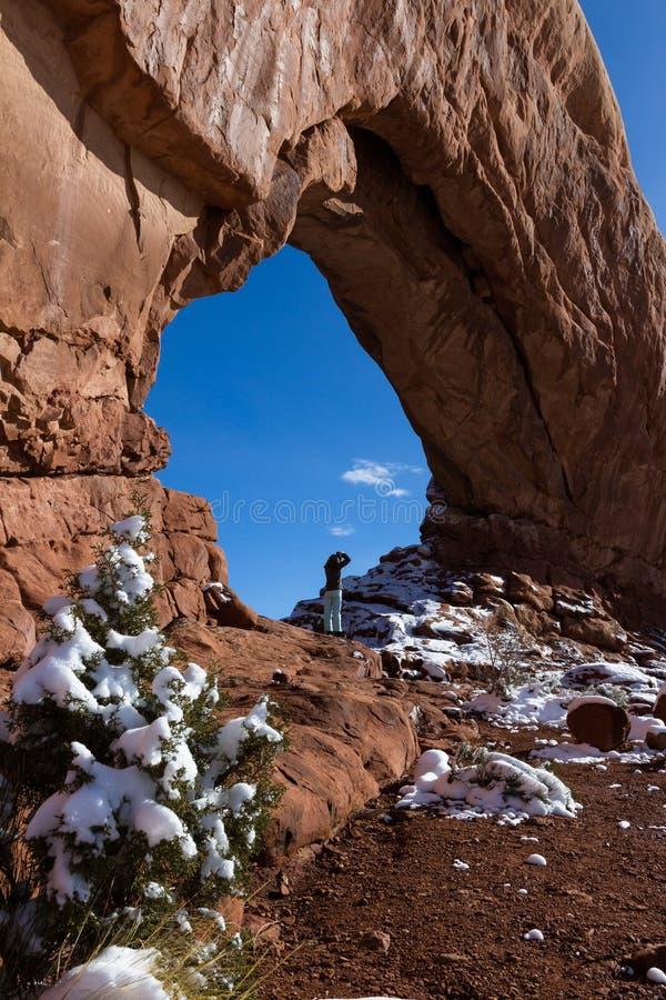 La finestra del nord, incurva il NP fotografia stock libera da diritti