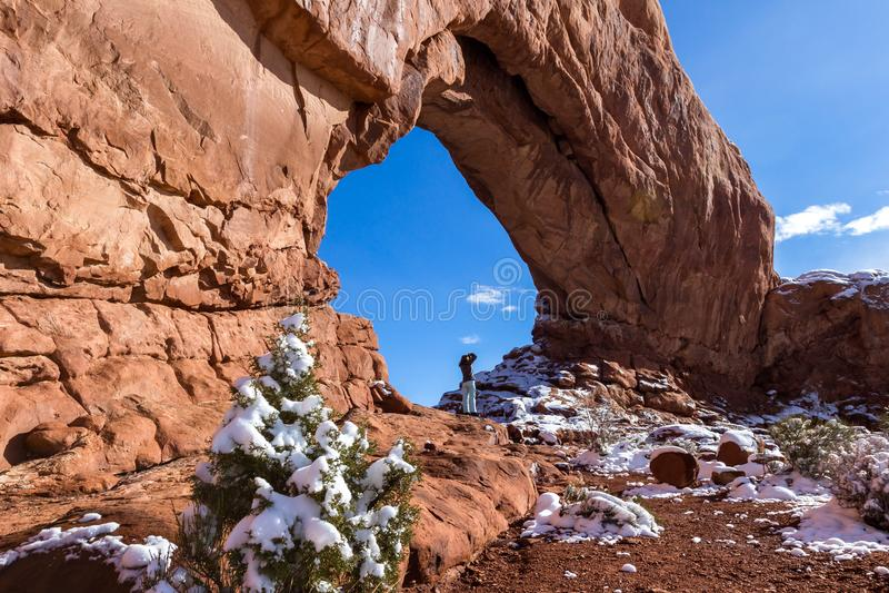 La finestra del nord, incurva il NP fotografie stock libere da diritti