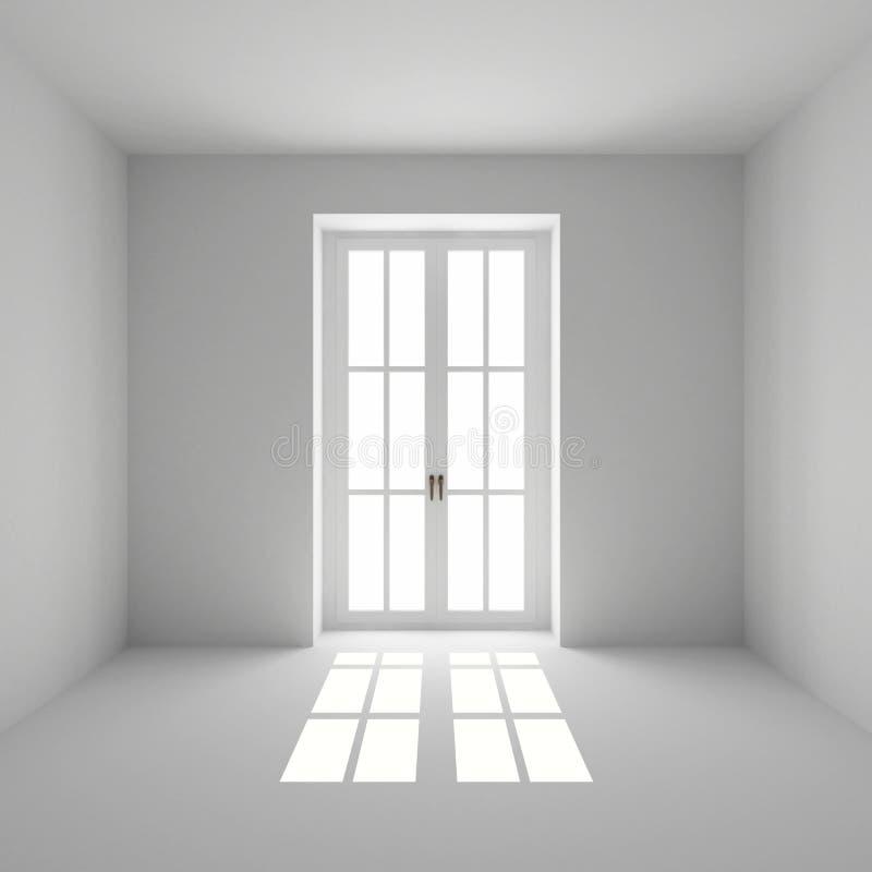 La finestra francese si è chiusa immagine stock libera da diritti