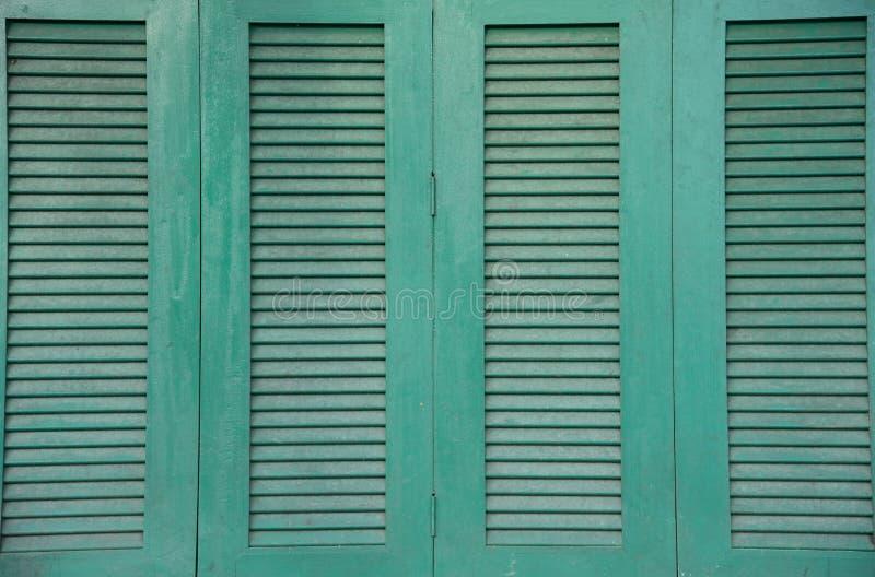 La finestra verde fotografia stock