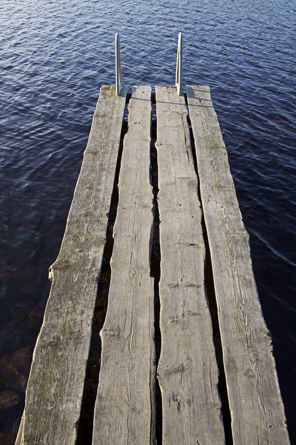 La Finlande : Jetée par un lac photos libres de droits