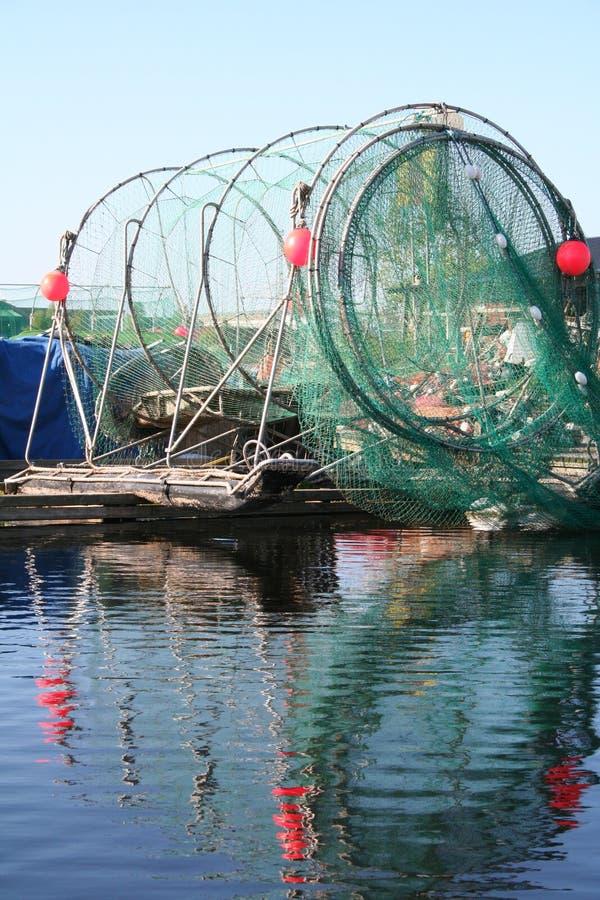 La Finlande. Réseaux d'une pêche photos stock
