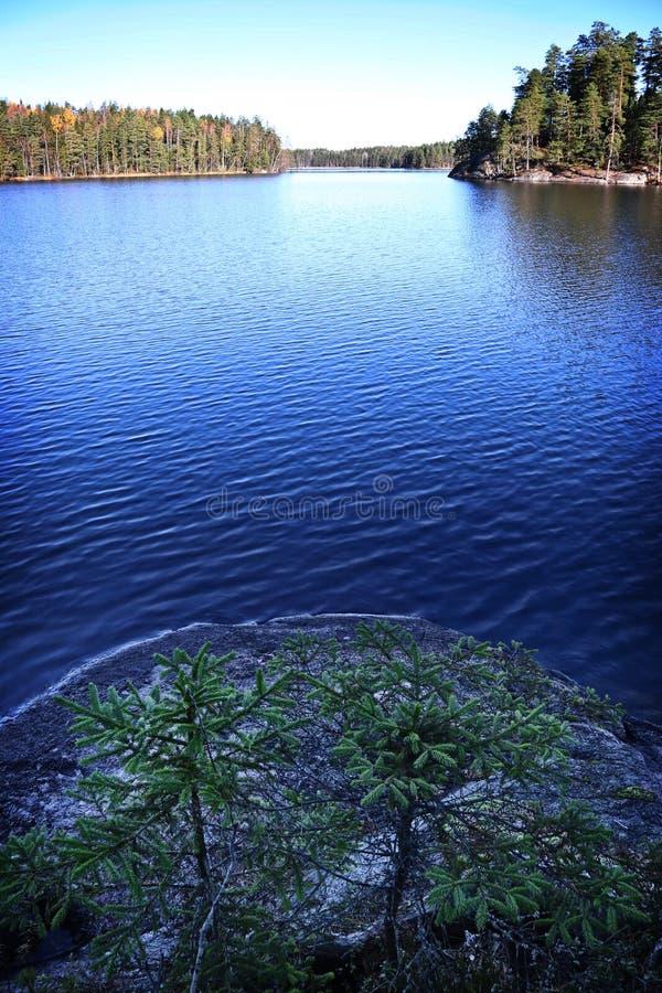 La Finlandia: Paesaggio e lago generali fotografia stock