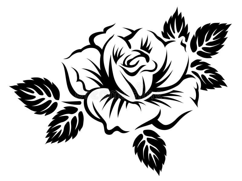 La fioritura stilizzata è aumentato royalty illustrazione gratis