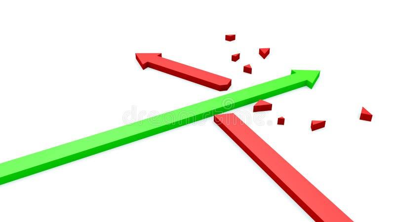 La flèche est tombée en panne la flèche illustration de vecteur