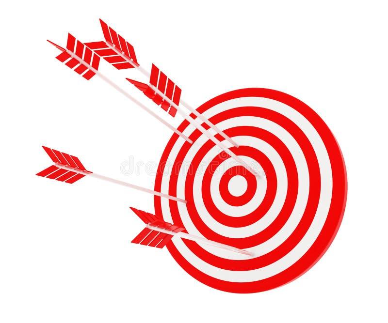 La flèche a frappé la cible illustration de vecteur