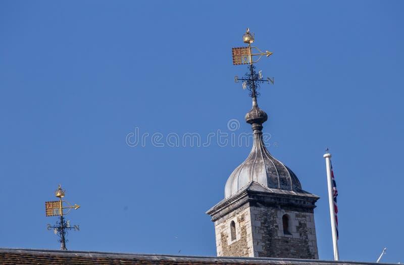 La flèche montre le vent du nord à Londres image libre de droits
