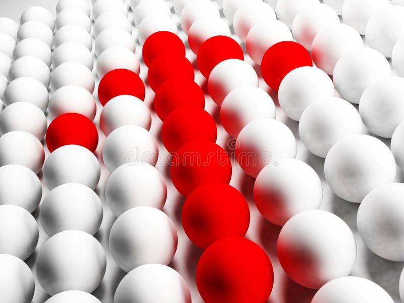 La flèche rouge illustration libre de droits