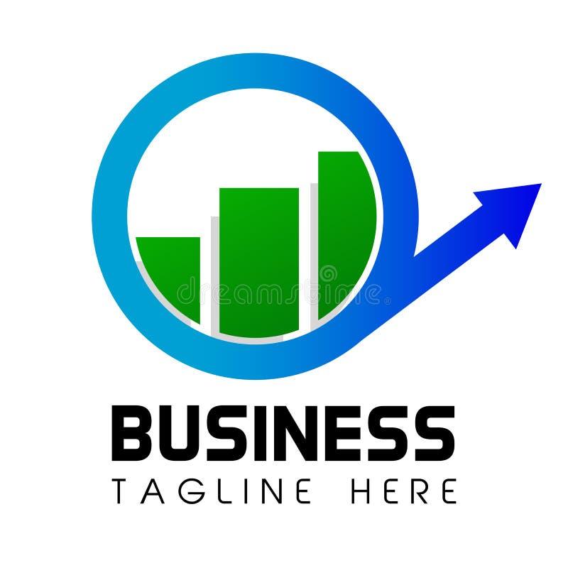 La flecha de Cirle y la barra Logo Business o la inversión Shinning simple orientaron corporativo stock de ilustración