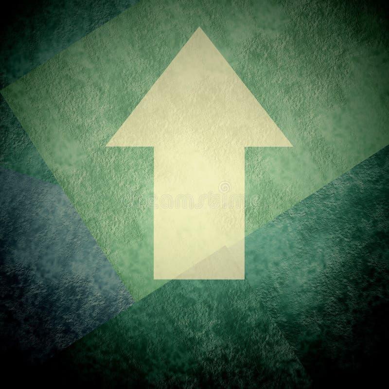 La flecha de la dirección firma para arriba el fondo del grunge imagenes de archivo