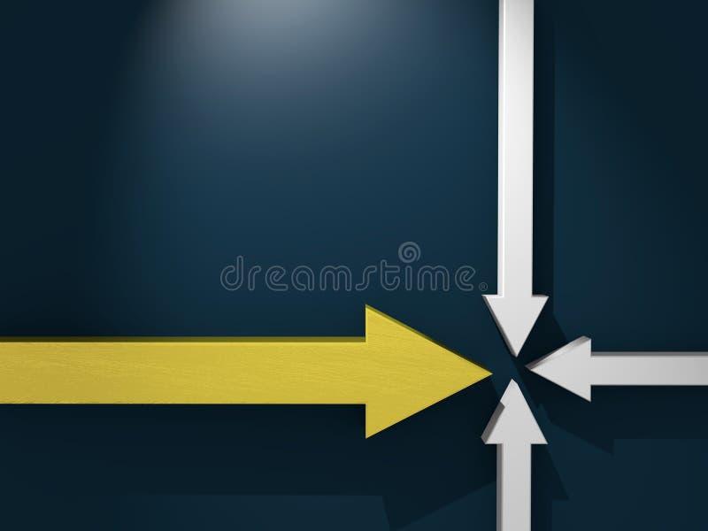 La flecha de oro resuelve con el gris tres otros libre illustration