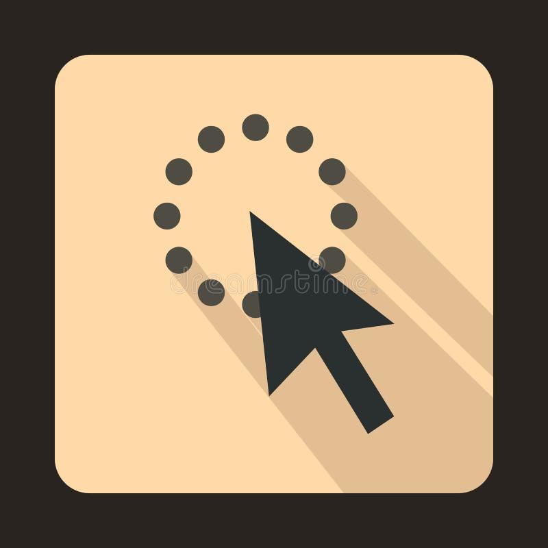 La flecha del cursor es icono cargado, estilo plano ilustración del vector