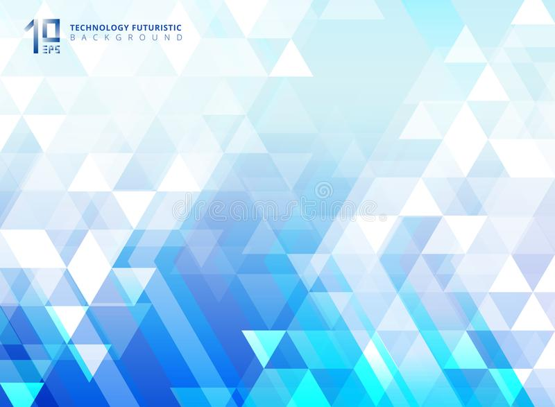 La flecha futurista y los triángulos de la tecnología abstracta modelan el eleme ilustración del vector