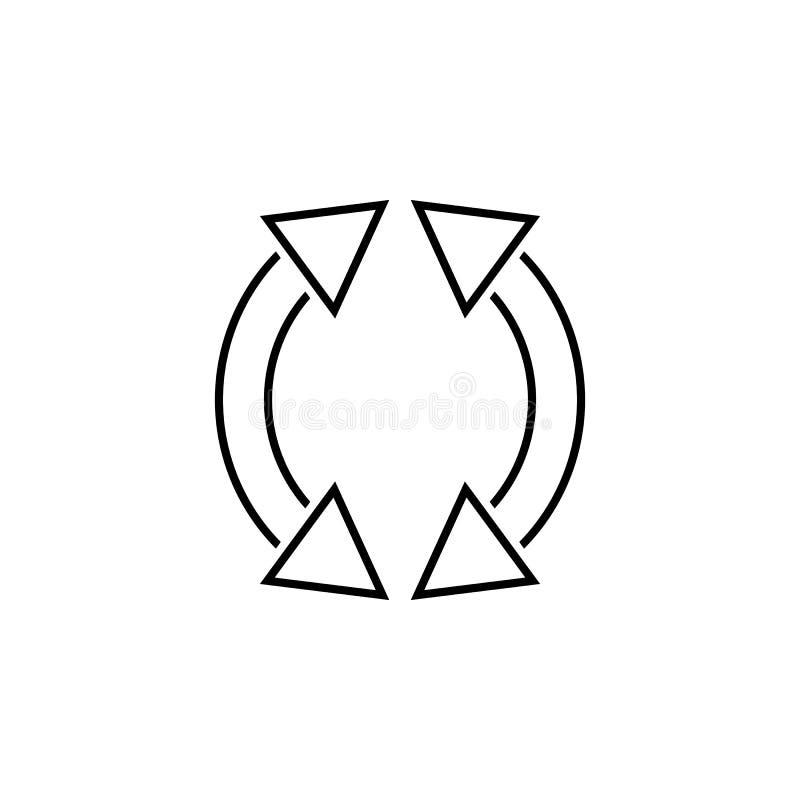 la flecha restaura el icono de la marca Línea fina icono para el diseño y el desarrollo, desarrollo del sitio web del app Icono s libre illustration
