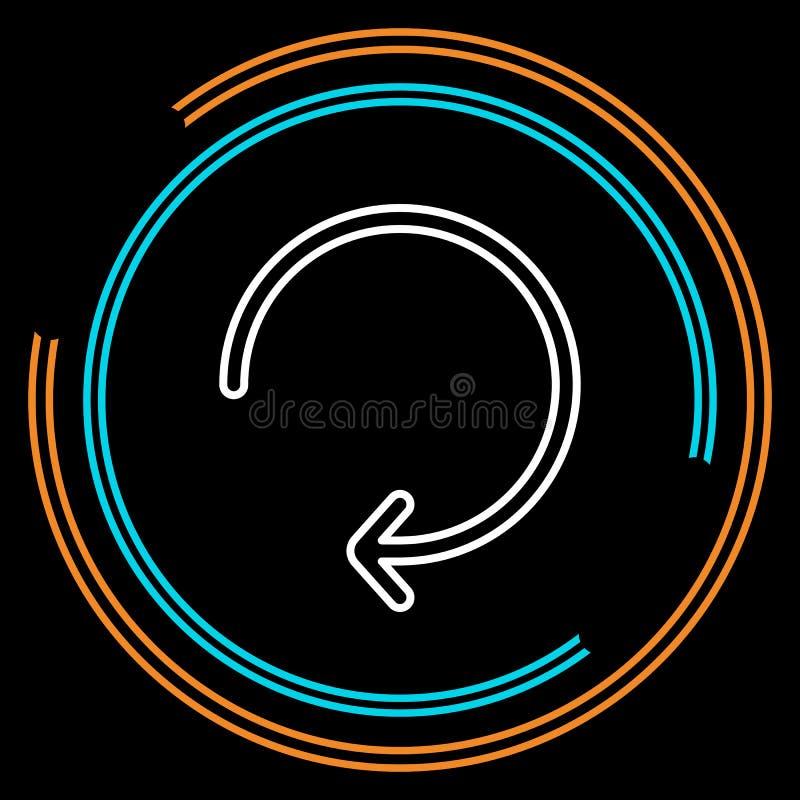 La flecha simple restaura la línea fina icono del vector libre illustration
