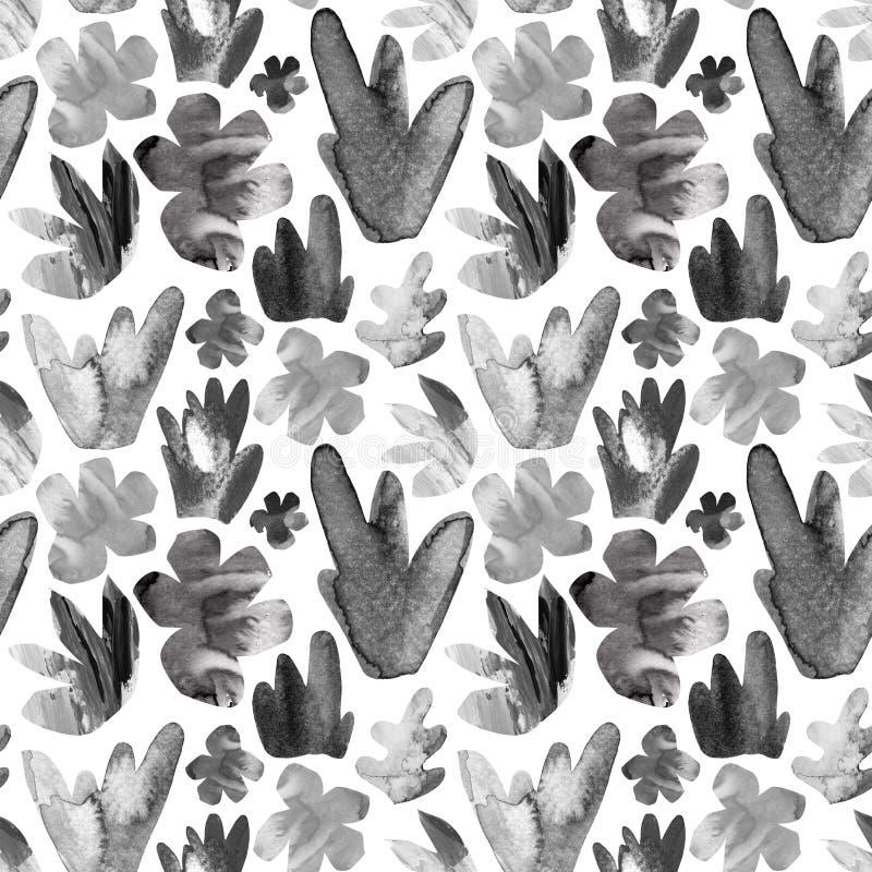La fleur décorative abstraite de coupe-circuit, part du modèle sans couture illustration stock