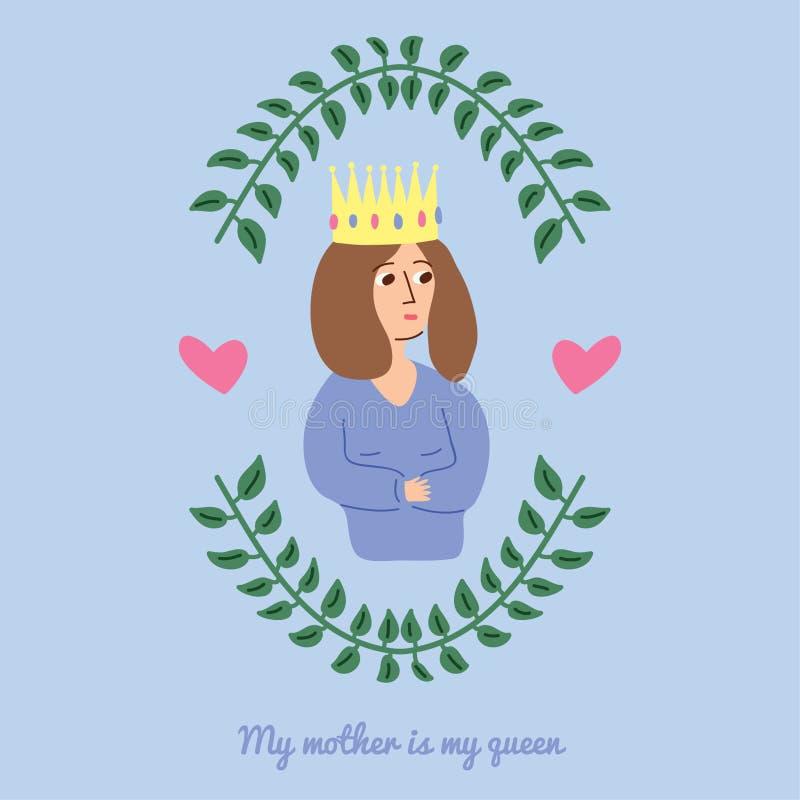 la fleur de jour donne à des mères le fils de momie à images libres de droits