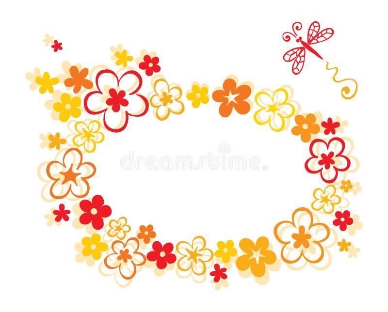 La fleur de trame illustration stock