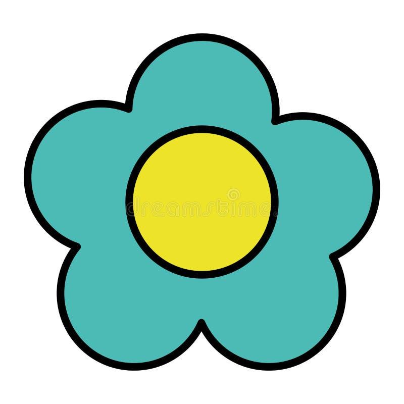 La fleur exotique de beauté de couleur avec des pétales conçoivent illustration libre de droits