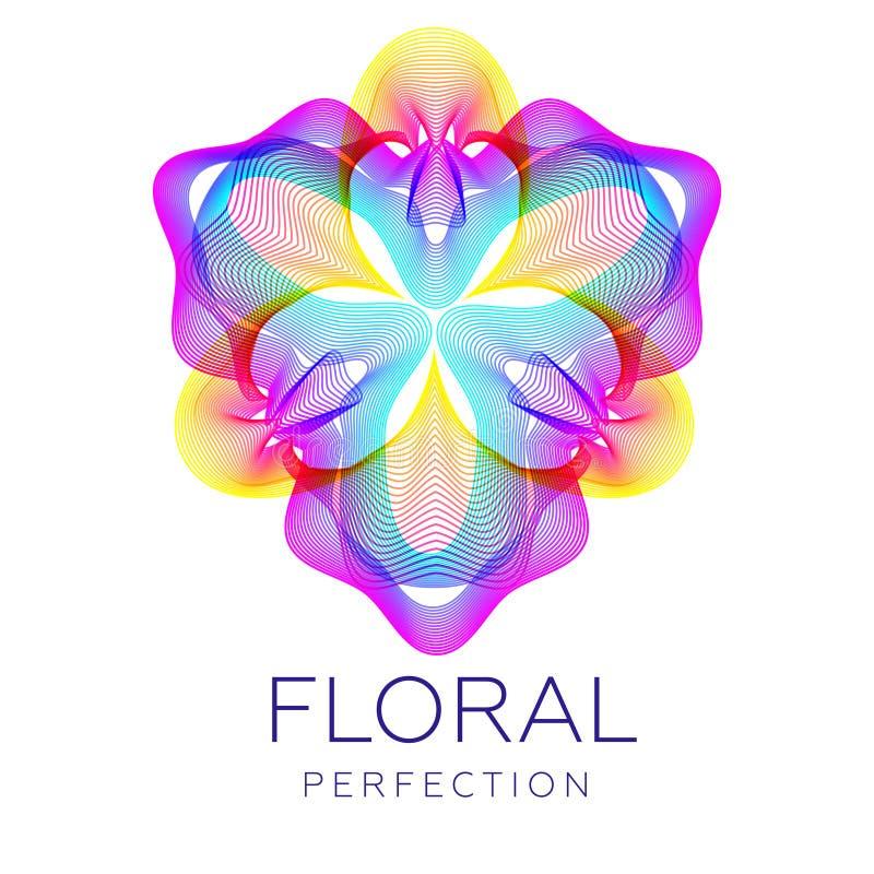 La fleur fantastique de jungle, forme abstraite avec un bon nombre de mélange raye illustration de vecteur