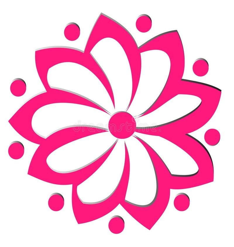 La fleur figure le logo illustration libre de droits