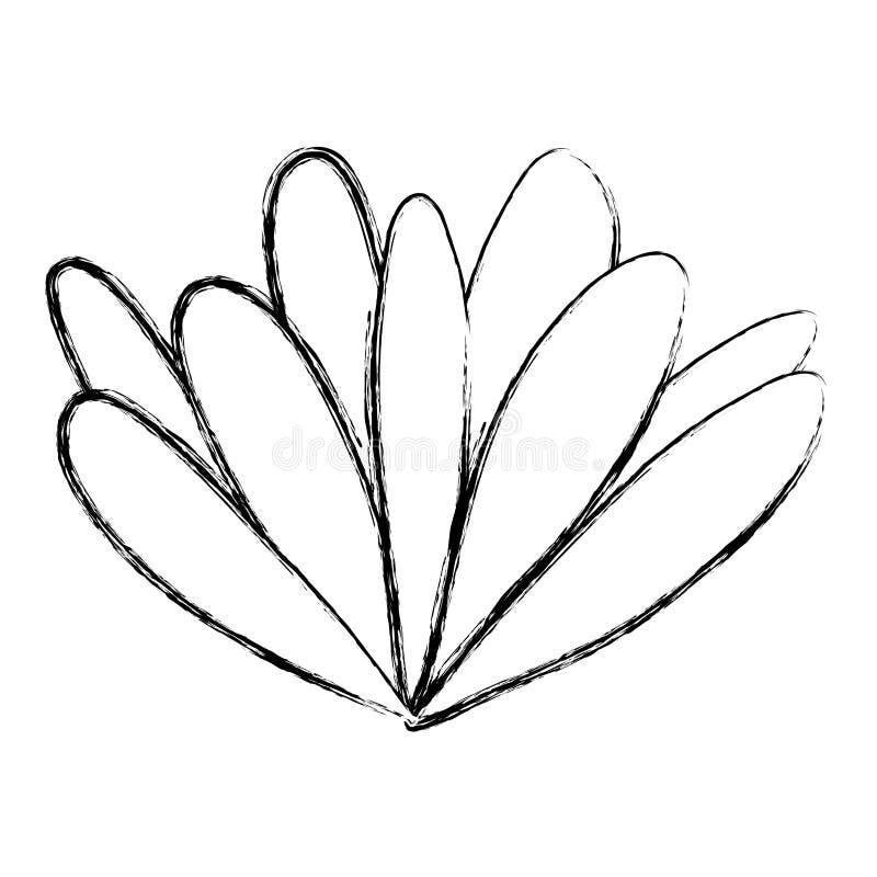 La fleur grunge de beauté avec les pétales exotiques conçoivent illustration libre de droits
